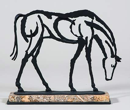 Grazing, steel drawing