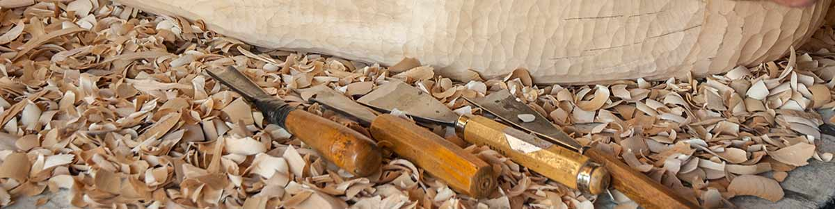 Wood carving tools banner